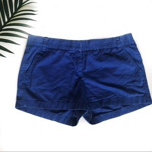J. Crew Blue Broken In Chino Shorts Size 14